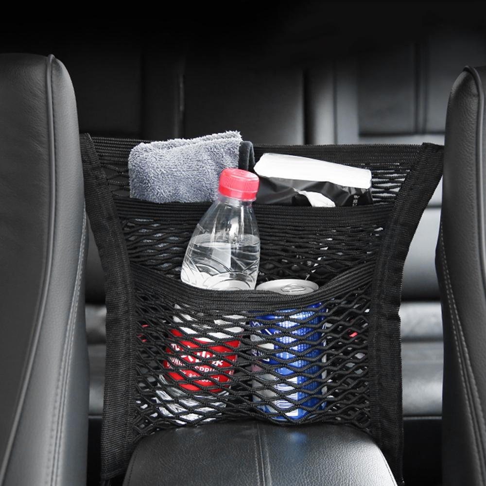 【Cap】汽車多功能扶手儲物收納置物網
