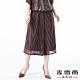 【麥雪爾】古著風圓點條紋格紋飄逸寬褲裙 product thumbnail 1