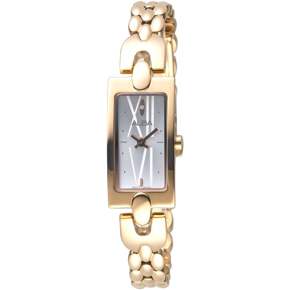 ALBA雅柏手錶 維多利亞SWAROVSKI晶鑽玫瑰金鍊帶女錶(AEGD36X1)/16*32mm 保固二年