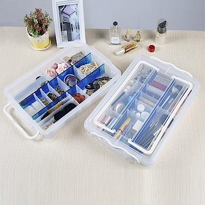 創意達人林可多用途手提分隔收納箱(2入)