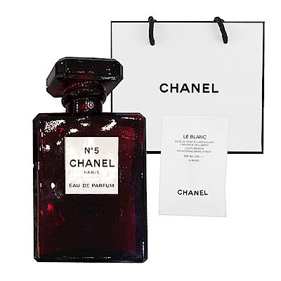 CHANEL香奈兒 N°5 典藏香水 紅色限定版 100ml 贈提袋及美妝小物