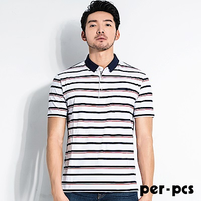 per-pcs 清新型男條紋休閒POLO衫_(717506)