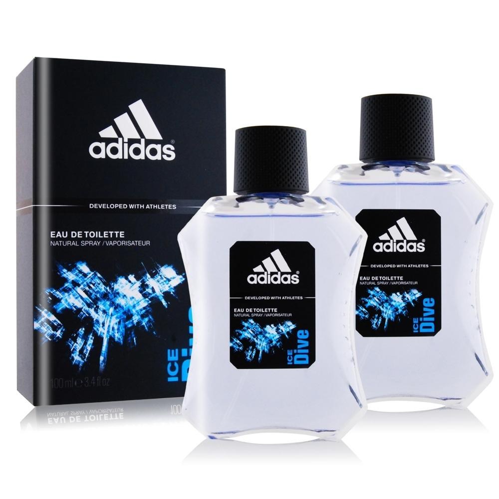ADIDAS 愛迪達 品味透涼男性淡香水100mlX2