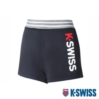 K-SWISS Contrast Waist Band棉質短褲-女-黑