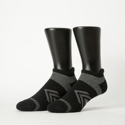 Footer除臭襪−雙側翼護足輕壓力船短襪-六雙入(黑*2+深藍*2+深灰*2)