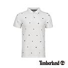 Timberland 男款白色刺繡短袖POLO衫|A1YGZ