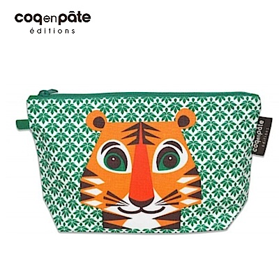 【COQENPATE】法國有機棉無毒環保布包 / 大大水堅包 - 老虎