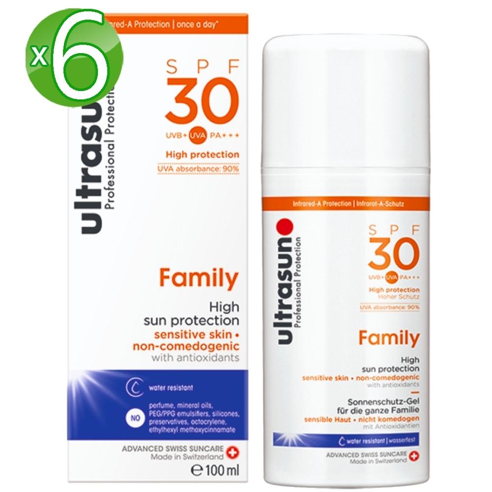Ultrasun優佳 倍護水感防曬乳SPF30*6入組PA+++(100ml/罐)
