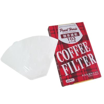 寶馬牌咖啡濾紙4-7人(40枚入×6盒)