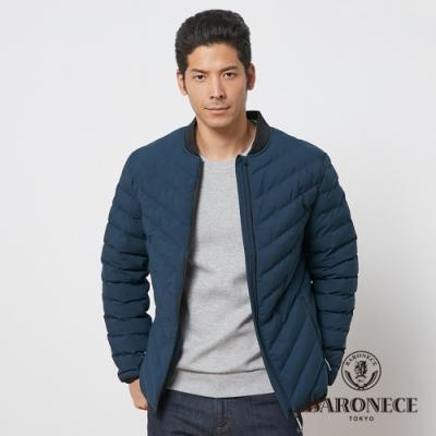 BARONECE 百諾禮士休閒商務 男裝 鋪棉球衣領夾克外套--藍綠色(1206791-37)