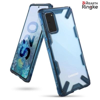 【Ringke】三星 Galaxy S20 [Fusion X] 透明背蓋防撞手機殼(藍)