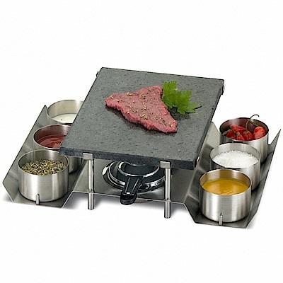 葡萄牙SILAMPOS火山岩石石板石頭烤盤組含6碗