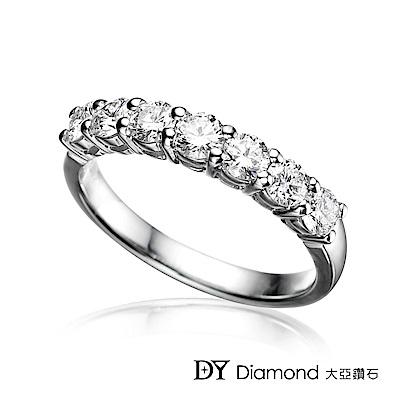 DY Diamond 大亞鑽石 18K金 時尚奢華鑽石線戒