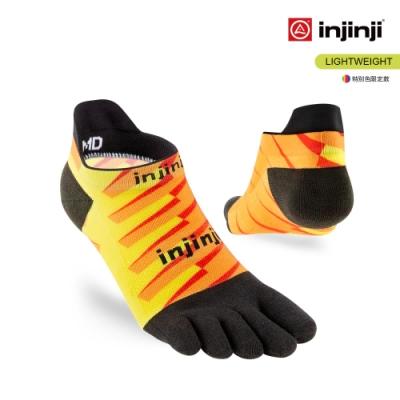 【INJINJI】RUN 輕量吸排五趾隱形襪 [橘黃]