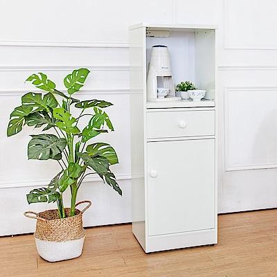 Birdie南亞塑鋼-1.4尺單門單抽塑鋼電器櫃/收納餐櫃(白色)-44x41x131cm