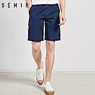SEMIR森馬-側邊貼布大口袋造型休閒短褲-男