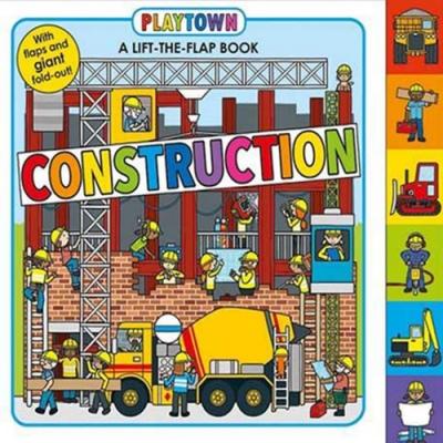Playtown:Contruction 建築奇觀硬頁翻翻操作書(英國版)