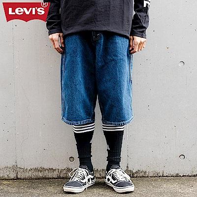 Levis 男款 寬版工作褲 湛藍刷色 銀標Silver Tab系列