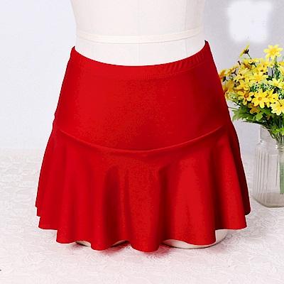 Biki比基尼妮泳衣  泳裙女生單泳裙遮肚內四角褲短裙(單褲裙)  多色