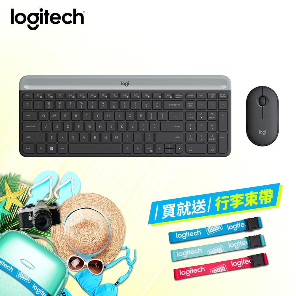 「6/25新品上市」羅技 MK470超薄無線鍵鼠組-珍珠白