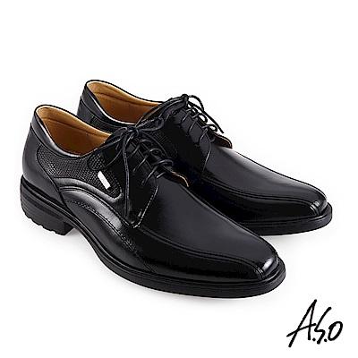 A.S.O職場通勤 3D超動能異材時尚孟克紳士鞋-黑