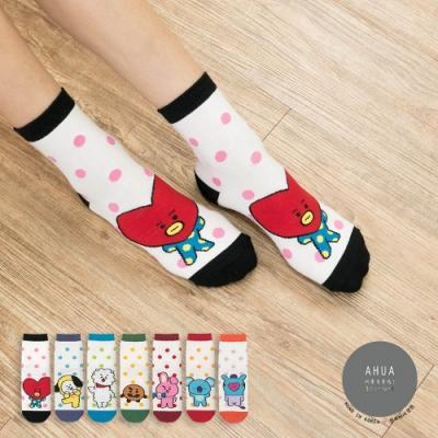 阿華有事嗎  韓國襪子 阿米最愛中筒襪(5)  韓妞必備 正韓百搭純棉襪