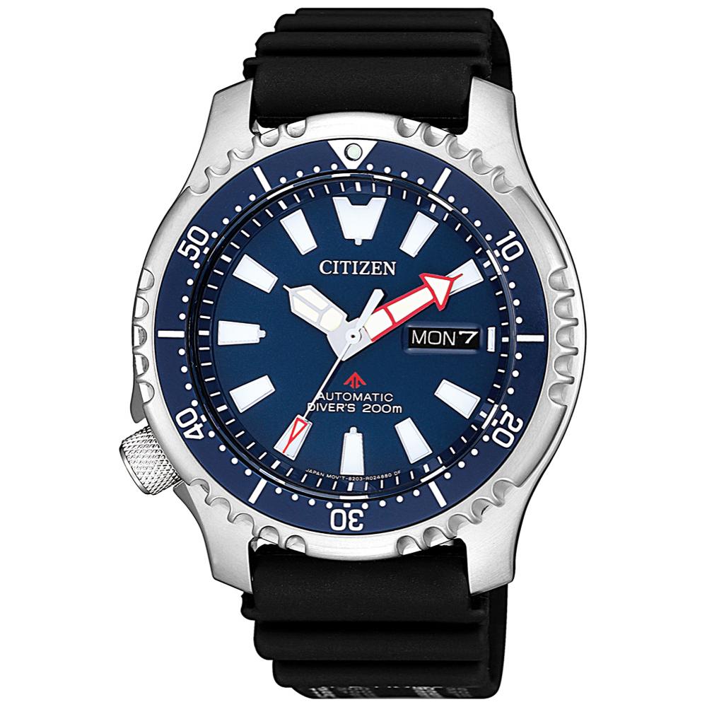 CITIZEN 星辰 運動200米潛水機械錶 NY0081-10L-藍X黑/42mm @ Y!購物