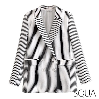 SQUA 條紋西裝外套
