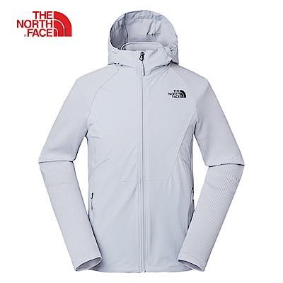 The North Face北面男款灰色防潑水透氣外套|3RKLA0M