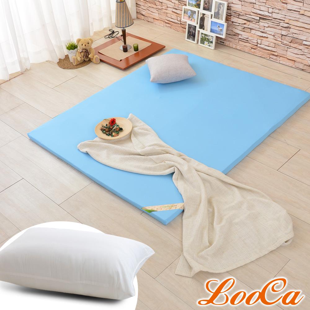 (開學組)LooCa 吸濕排汗HT5cm乳膠舒眠床墊-加大6尺 @ Y!購物