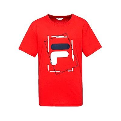 FILA 男款短袖圓領T恤-紅色 1TET-1512-RD