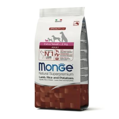 Monge瑪恩吉 天然呵護 迷你成犬糧(羊肉+米+馬鈴薯)800g 2包