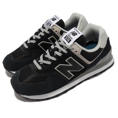 New Balance 休閒鞋 574 經典 百搭 女鞋 紐巴倫 麂皮 網布 緩震 鞋櫃必備 藍 黑 WL574EB-B