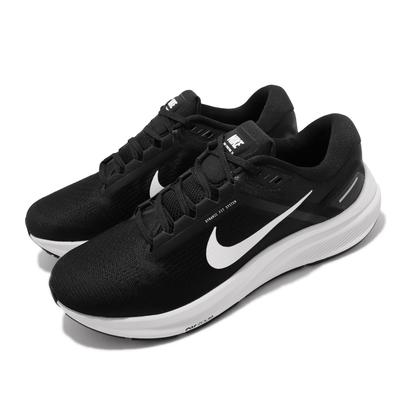 Nike 慢跑鞋 Zoom Structure 24 男鞋 氣墊 舒適 避震 路跑 健身 運動 黑 白 DA8535-001