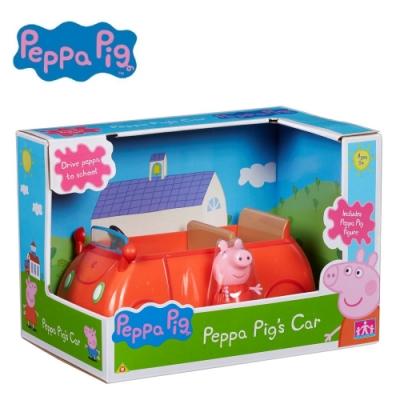 粉紅豬小妹 交通工具組系列- 經典小紅車 內含佩佩豬公仔 PEPPA PIG