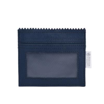PORTER - 生活選物PUFF橫式掛繩證件套 - 深藍
