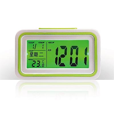 愛迪生 LED語音報時電子鬧鐘(顏色隨機)