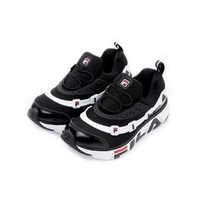 FILA KIDS 大童運動鞋-白 / 黑 3-C141U-001