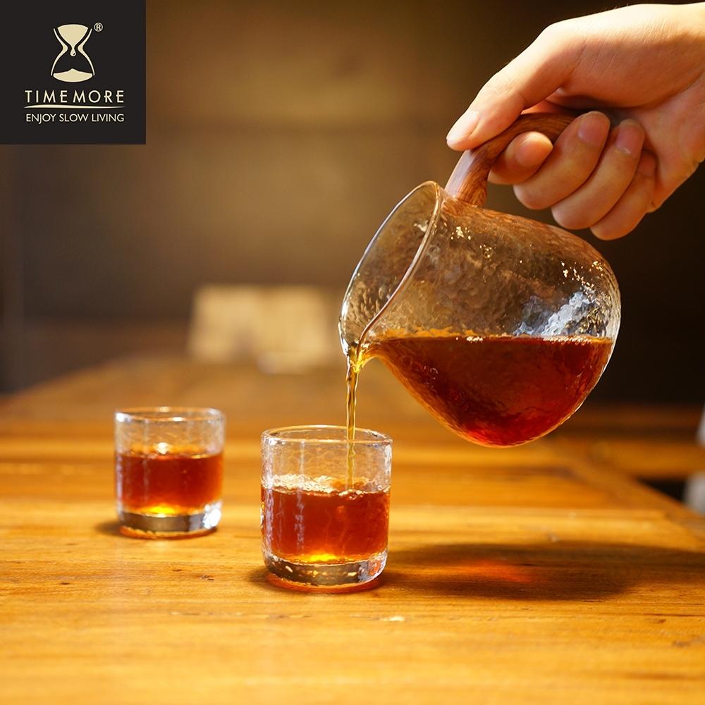 TIMEMORE泰摩 錘目紋玻璃咖啡分享壺套裝組-有柄