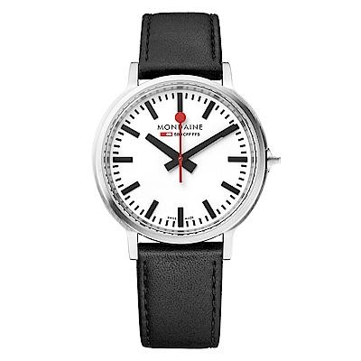 MONDAINE 瑞士國鐵stop2go經典腕錶–40mm/白