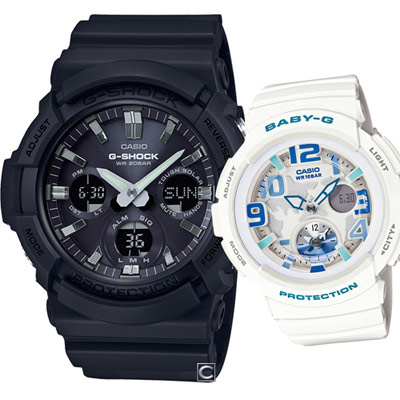 CASIO 星空旅行時尚對錶-52.5+44.3mm