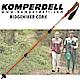 KOMPERDELL RIDGEHIKER CORK強力鎖定軟木登山杖(雙支)_橘 product thumbnail 1