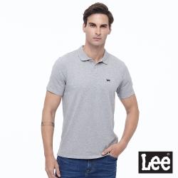 Lee 刺繡小Logo 短袖POLO衫 彈性 男款-灰色