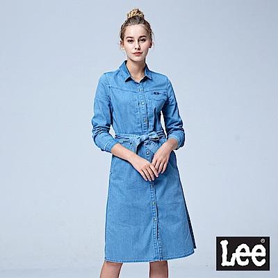 Lee 牛仔長袖洋裝/101+淺藍