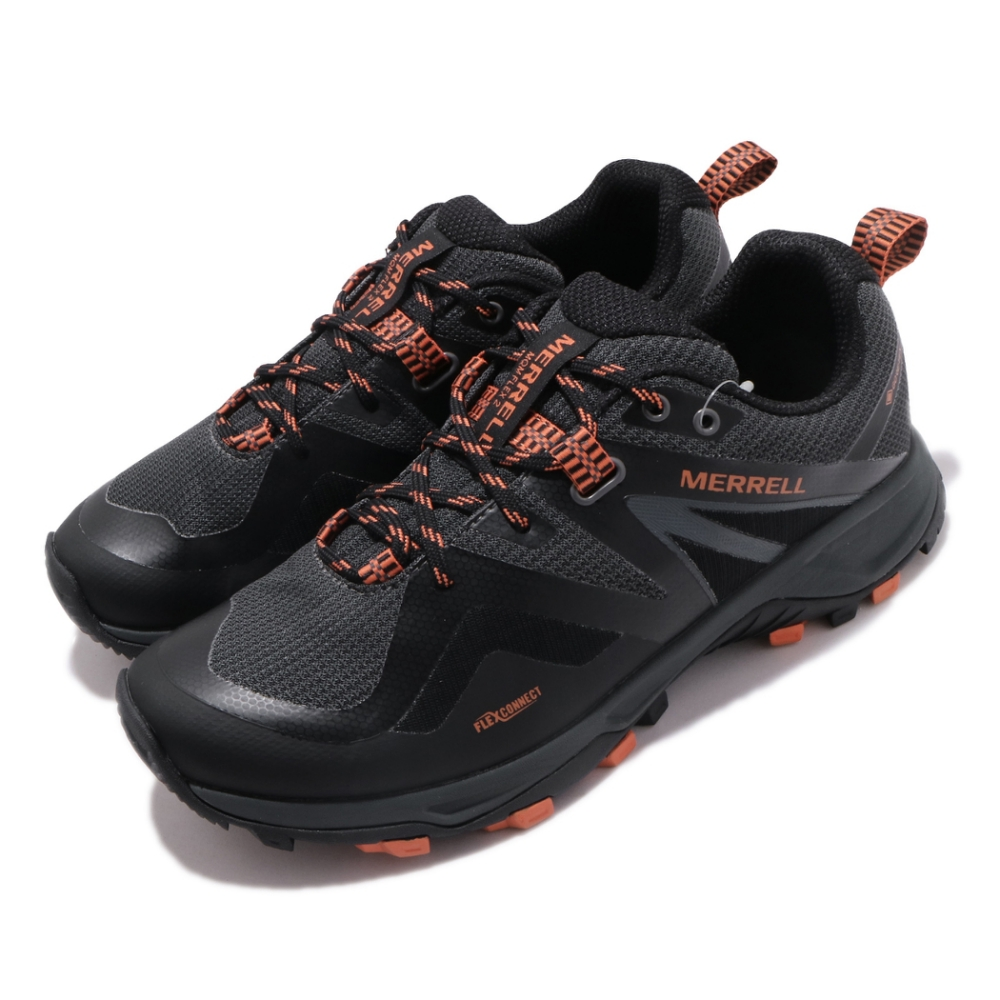 Merrell 戶外鞋 MQM Flex 2 GTX 男鞋 登山 越野 耐磨 防潑水 彈性支撐 膠底 黑 橘 ML034231