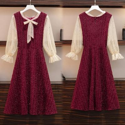 【韓國K.W.】(預購)歐洲款純淨簡約氣質洋裝-2色