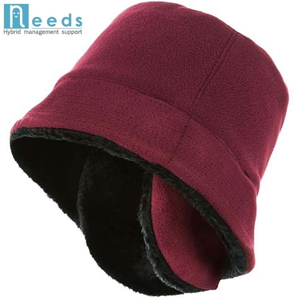 日本NEEDS兩種戴法護耳帽防寒保暖帽(674126 紅/黑674560 黑/灰)
