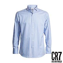 CR7-Slim Fit 藍白直條襯衫(8653-7200-30)