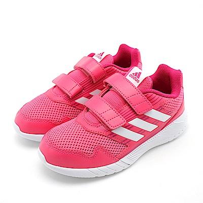 ADIDAS-中大童慢跑鞋CQ0032-桃紅