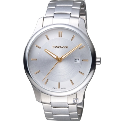 WENGER City 城市系列 經典簡約紳士腕錶(01.1441.105)43mm